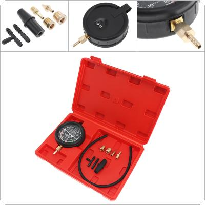 Universal 0~10 PSI / 0~28 Hg  Portable Carburetor Valve Fuel Pump Pressure Vacuum Tester Gauge Kit  for Car / Truck