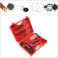 Portable Replaceable Hand Held Vacuum Pump Brake Tester Bleeder Set Kit with Measuring Cup and Hose for Car / Motorcycle