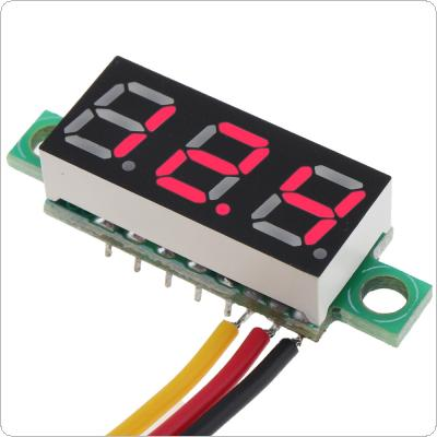 Red / Green / Blue / Yellow 0.28 Inch DC LED Digital Voltmeter 0-100V Voltage Meter Auto Car Mobile Power Voltage Tester Detector