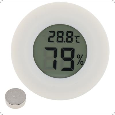 Mini Round LCD Digital Thermometer Hygrometer Fridge Freezer Tester Temperature Humidity Meter Detector Home Measuring Tool
