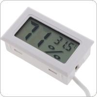 LCD Digital Mini Thermometer Hygrometer Thermostat Indoor Convenient Temperature Sensor Humidity Meter Gauge Instruments Probe