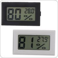 Digital LCD Thermometer Hygrometer Mini Electronic Temperature Humidity Sensor Meter Built-In Probe FY-11