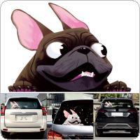 22 x 16CM PET 2 Colors Lovely Pet Dog Pattern Outdoor Reflective Car Motorcycle Body / Bumper / Hood / Scratch Sticker