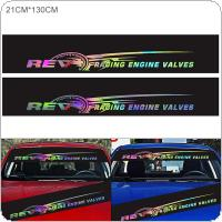 130 x 21CM PVC Laser Colourful RE Speedometer Pattern Car Sun-Resistant Front Rear Windshield Sticker