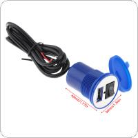 12V 2.1A Waterproof USB Nozzle Universal USB Vehicle Charger Mobile Phone Charger Women's Electric Vehicle for Cross Cycling Scooter