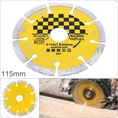 115mm Hard Alloy Steel Circular Saw Blade Marble Stone Cutting Blade Diamond Dry Cutting Disc with Dry Slotted Broken Walls for Concrete Ceramic