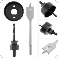 3pcs/set 54mm Woodworking Opener Hole Saw Bit Cutting Drilling Tool Set with Round Case Saw and Flat Drill for Gypsum Board / Wood Opening / PVC Pipeline