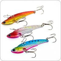 6cm 20g Metal VIB Fishing Lure Lead Bait with 2 Hooks All Swimming Layer 3 Colors Optional