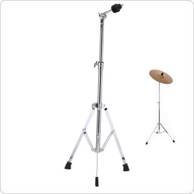 Full Metal Floor Cymbal Triangle Bracket Stand Holder Adjustment Foldable Jazz Drum Set Percussion