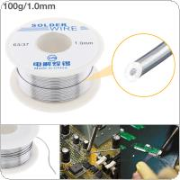 63/37 100g 1.0mm No Clean Rosin Core Solder Tin Wire Reel Tin Lead Wire with 1.8% Flux and Low Melting Point for Electric Soldering Iron