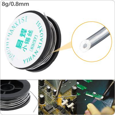 63/37 8g 0.8mm Mini Solder Wire Tin Lead Wire Reel with 2% Flux and Rosin for Electric Soldering Iron