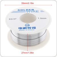 63/37 50g 1.0mm No Clean Rosin Core Solder Tin Wire Reel Tin Lead Wire with 2% Flux and Low Melting Point for Electric Soldering Iron