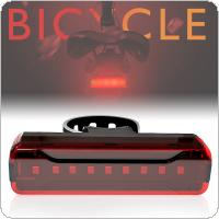 A02 2835 Red LED 5 Modes USB Charging Taillight Bicycle Lights with 620nM Bead Wavelength for Motorcycle Electric Plastic Vehicle Mountain Bike Safety Warning