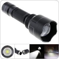 C8 L2 LED 1000LM 5 Modes White Light Aluminum Waterproof Zoomable Super Bright Tactical Flashlight Torch Light for Indoor / Outdoor Exploring / Camping / Hiking