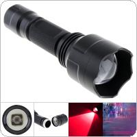 Waterproof Rotary Focusing C8 Osram 850nm IR 38mm Lens Zoomable Infrared Light Night Vision Flashlight Torch for Camera Supplementary Intensifier