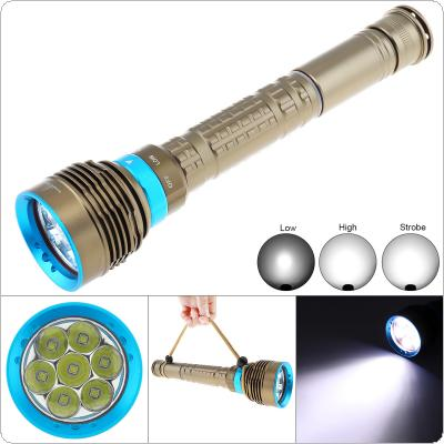7x XM-L L2 LED 30000LM High-power Flashlight Waterproof Underwater 50M Diving Flashlight with Rotating Magnetron 3 Modes Light Support 18650 / 26650 Batteries