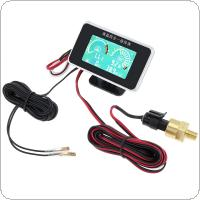 12V / 24V Universal 4 In 1 LCD Digital Volt Gauge + Water Temp Gauge + Oil Pressure Gauge + Fuel Gauge with Sensor for Car / Truck