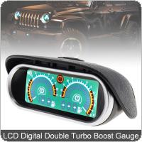 12V / 24V LCD Digital Racing Gauge Display Turbo Boost Gauge Double Barometer Boost Controller Kit for Truck / Car