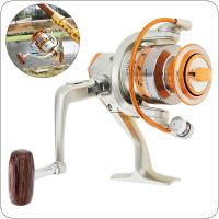 4000 Series 12 Ball Bearing 5.2:1 Fishing Reel Saltwater Freshwater Spinning Wheel with Metal Line Cup & Handle