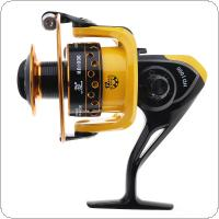 Carp Fishing Reel 12BB 1000 Spinning Wheel 8KG Drag Power with Double Colour Metal Line Cup & Wooden Handle Knob