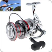 Full Metal Spinning Fishing Reel 9000 Series 14+1 Ball Bearing 20KG / 44LB Long Distance Surf Casting Wheel with Larger Spool