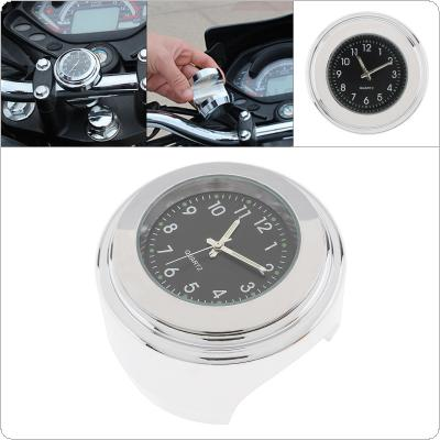 Universal Waterproof Dustproof Aluminium Alloy 22-25mm Quartz Clock Handlebar Watch Night Light Timetable for Big Turtle King Retro Car