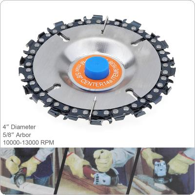 4 Inch 22 Tooth Durable Angle Grinder Chain Tray Disc Cutter Wood Grooved Saw Blade Woodworking Chain Grinder Chain Disc Sculpting Tool
