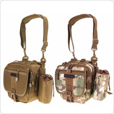 Multifunctional Camouflage Fishing Bag Messenger Waist Bag Waterproof Fishing Rod Lure Reel Line Tackle Storage Bag