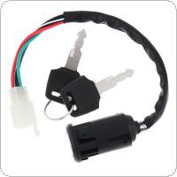 4 Wires Tap Lock Electric Door Lock The Ignition Switch with 2 Keys Support Motorcycle / Bike / Scooter / ATV / Go Kart for CG125