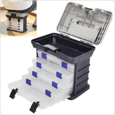 27 x 17 x 26cm 5 Layers Portable Carp Fishing Tackle Boxes Fishing Reel Line Lure Tool Storage Box