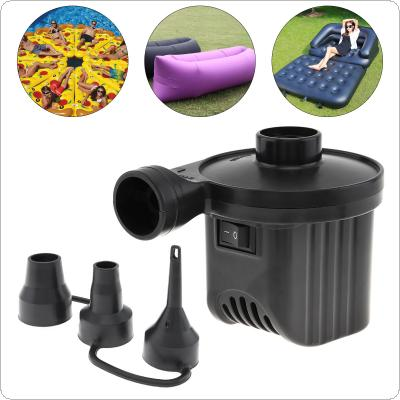 EU 220V DC 12V Portable Replaceable Dual Purpose Air Pump Electrical Suction / Inflatable Pump with 3 Nozzles for Car / Home