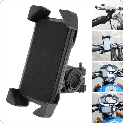Black Universal Mobile Navigation Fixed Bracket Bicycle Motorcycle Accessories with Sponge Pad Support 3.5-7 Inch Screen for Most Mobile Phones
