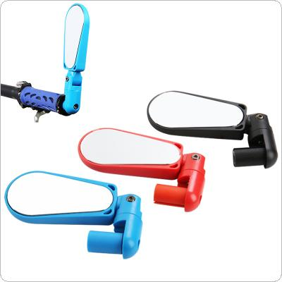 360 Degree Adjustable Rear View Mirror Mountain Bike Handlebar Rearview Mirror Bike Accessories with LED Light
