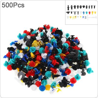 500pcs 30 Kinds Universal Plastic Car Body Bumper  Push Pin Clip Rivets Fastener Expansion Screws Kit