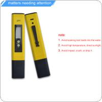 LCD Digital Portable High-Accuracy PH Meter Pen Test with Glass Probe for The PH Level of Solution / Water