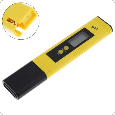 LCD Digital Portable High Accuracy PH Meter Pen Test with Glass Probe for The PH Level of Solution / Water