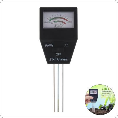 2 in 1 Digital Tester Ideal Garden Tool with 3 Probes for Soil PH Levels / Fertility