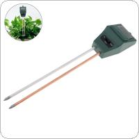 3 in1 Square Head Digital Tester Garden Tool with 2 Probes for Soil Moisture / Sunlight / PH Levels