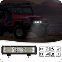 12 Inch 180W Triple Row IP67 Combo Beam LED Light Bar Car Work Light for Car Tractor Boat OffRoad Off 4WD 4x4 Truck SUV ATV Driving