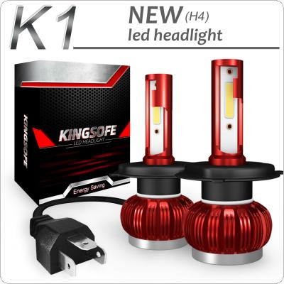 2pcs K1 H4 / HB2 / 9003 72W 8000LM IP68 6000K White COB LED Headlight Kit Waterproof for Car / Truck / SUV / RV