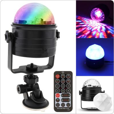 RGB USB 6W Colorful Remote Control LED DISCO Voice-Controlled Magic Ball Stage Effect Light Support Nightlight Mode for Nightlight / Stage / Christmas / Party