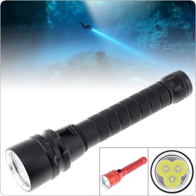 30000 Lumens Professional Scuba Diving Flashlight 3 L2 LED Portable Dive Torch 200M Underwater Waterproof Powerfull Flashlights for Diving / Mountain / Climbing