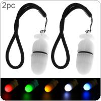 2pcs Underwater Flashing Scuba Night Dive Marker LED Beacon Beam Safety Signal Light Lamp Warning Diving LED Torch