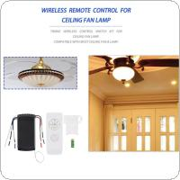 90-265V Timing Wireless Adjusted Controller / Receiver Ceiling Fan Lamp Remote Control Kit with  4 Interfaces for Control Switch
