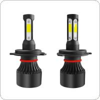 2pcs S2 H4 / HB2 / 9003 72W 8000LM IP68 6000K White 4-Side COB LED Headlight Kit IP68 Waterproof for Car / Truck / SUV / RV