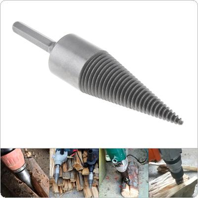 35MM Steel Speedy Screw Cones Drill Bit with Hexagonal Handle for Soft / Hard Firewood