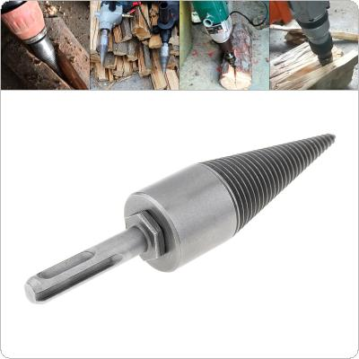 35MM Steel Speedy Screw Cones Drill Bit with Round Handle for Soft / Hard Firewood