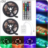 10M 3528 SMD RGB Flexible LED Light Strip 600LEDs +44 Key IR Remote Controller
