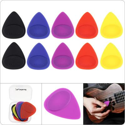 10pcs Multicolor Acoustic Guitar Frosted Skidproof Picks Plectrums Mixed Size with Box