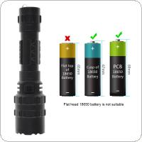 8000 Lumens L2 LED Tactical Flashlight Torch Set Ultra Bright USB Rechargeable Waterproof Scout Light Torch Hunting Light 5 Modes by 1 x 18650 Battery